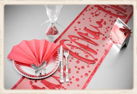 Tischdekoration Silvester Tischläufer