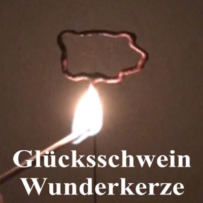 Dekoration Silvester: Glücksschwein Wunderkerze