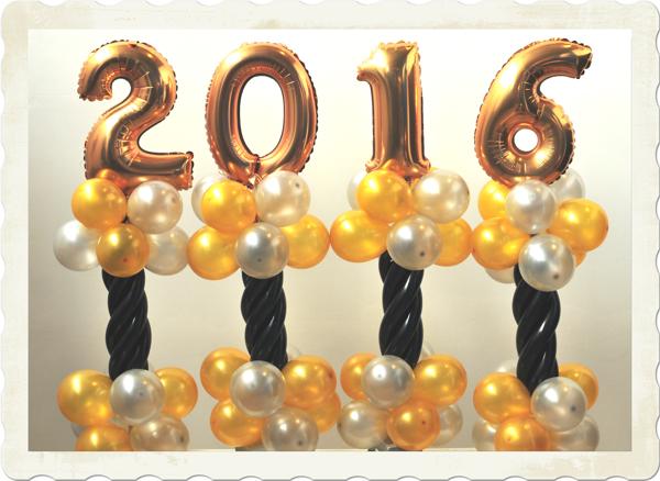Dekoration Silvester Tischdeko 2016