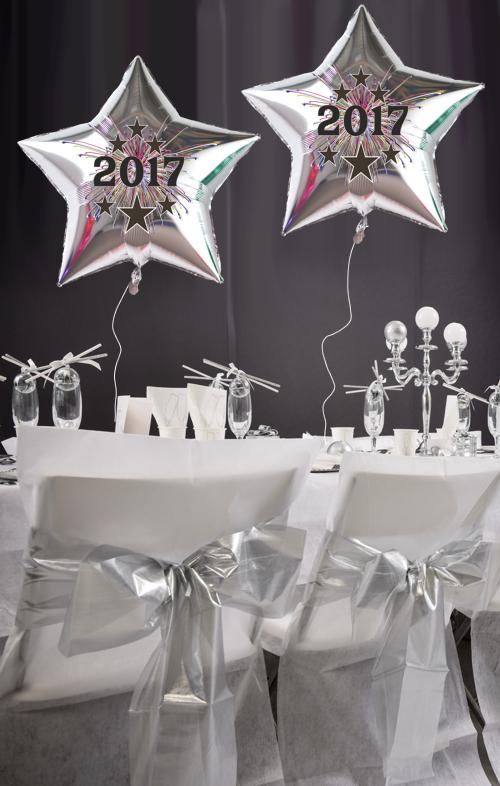 Silvester-Dekoration-Stern-Luftballons-2017