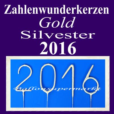 dekoration silvester wunderkerzen gold zahl 2016