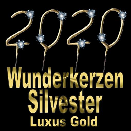 Dekoration Silvester - Wunderkerzen Gold 2020