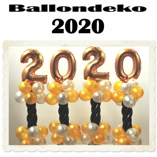 Silvester Dekoration Ballon-Tischdeko 2020